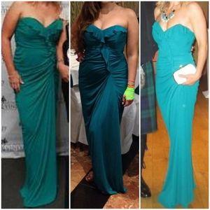 Badgley Mischka Strapless Gown, Size 12